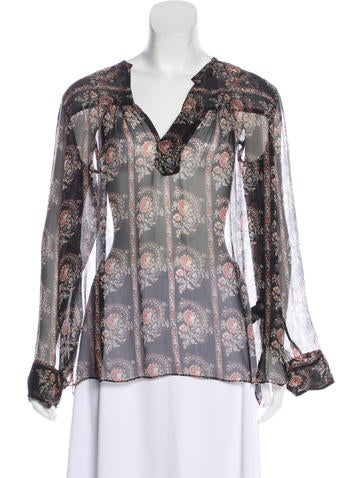 Étoile Isabel Marant Silk Printed Blouse None