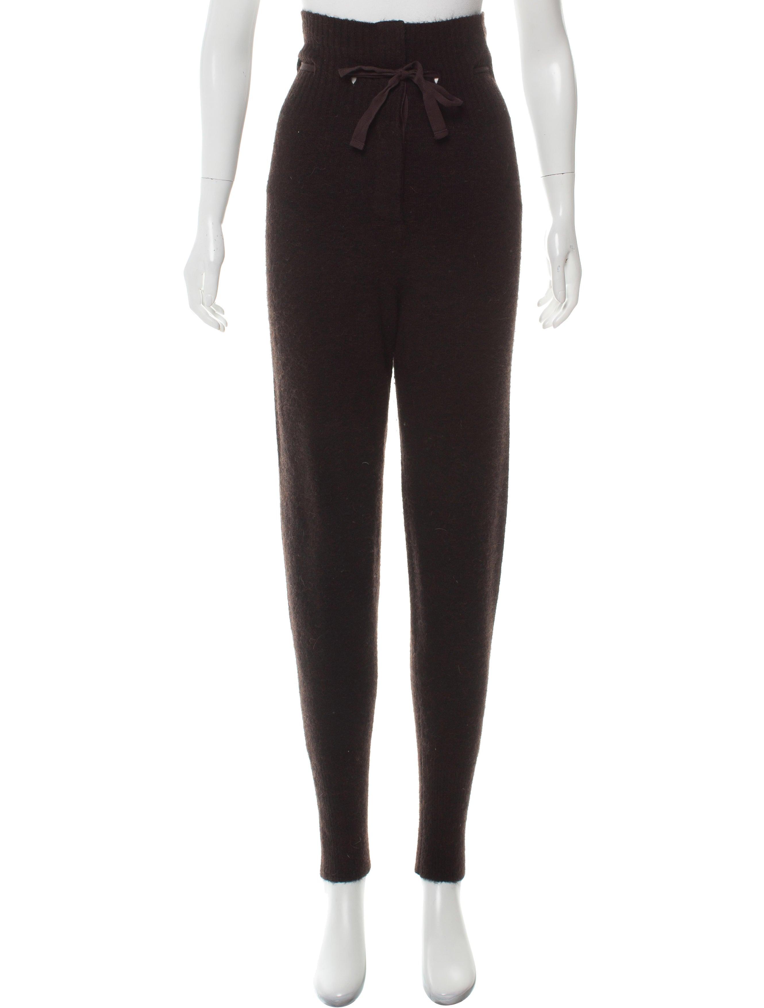 ea2c1f1d73 Étoile Isabel Marant High-Rise Skinny Knit Pants - Clothing - WET67030 |  The RealReal