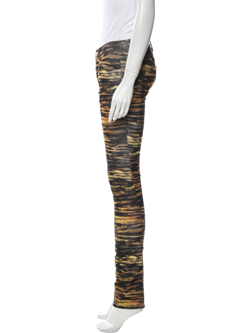 Étoile Isabel Marant Animal Print Skinny Leg Pant… - image 2