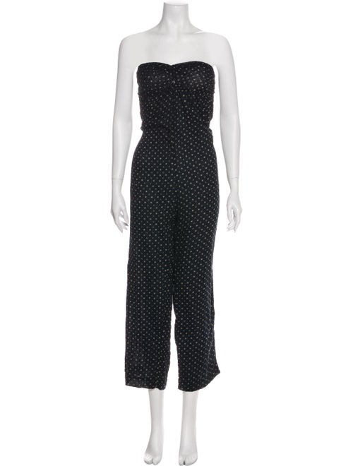 Étoile Isabel Marant Printed Strapless Jumpsuit Bl