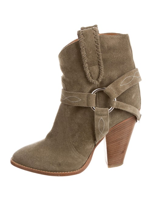 Étoile Isabel Marant Suede Western Boots Green