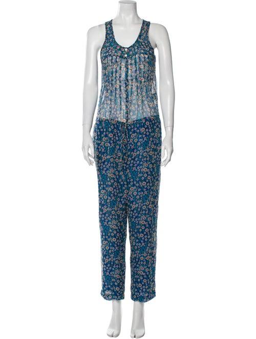 Étoile Isabel Marant Silk Floral Print Jumpsuit Bl