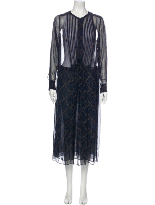 Étoile Isabel Marant Silk Long Dress Blue