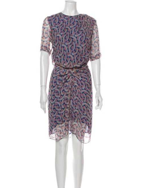 Étoile Isabel Marant Silk Knee-Length Dress Blue