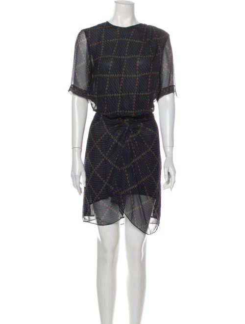 Étoile Isabel Marant Silk Mini Dress Blue