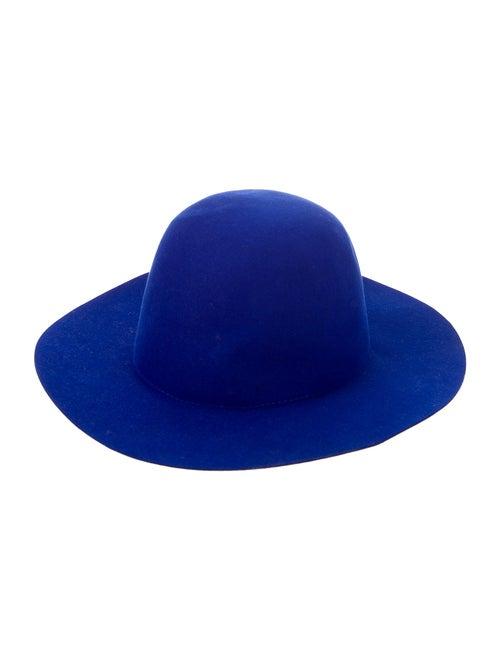 Études Studio Felt Wide Brim Hat blue