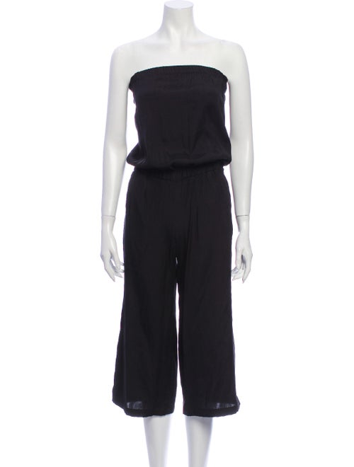 Emerson Thorpe Silk Strapless Jumpsuit Black