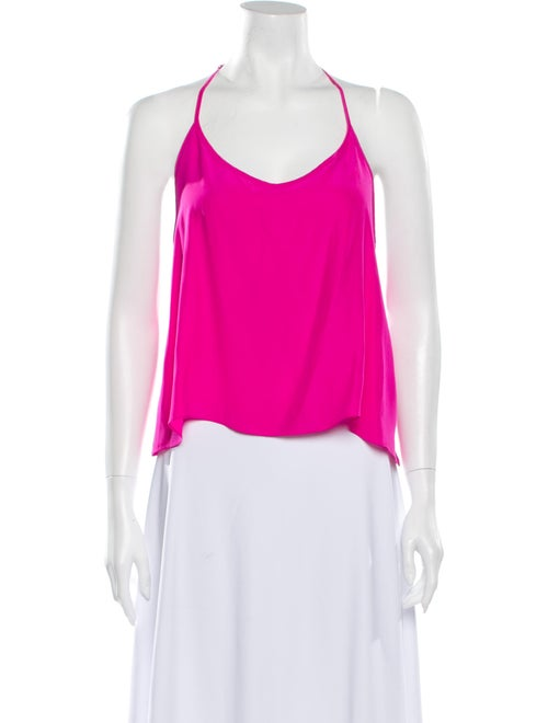 Emerson Thorpe Silk Scoop Neck Top Pink