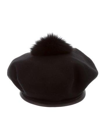 Wool Pom-Pom Beret w/ Tags