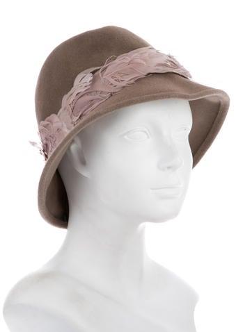 Feather-Embellished Rabbit Fur Hat