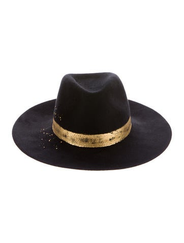 Metallic-Trimmed Georgina Hat