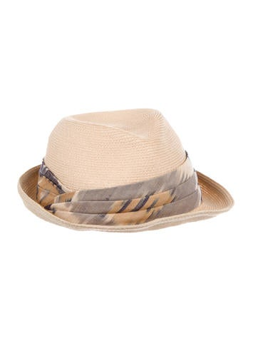 Eugenia Kim Straw Fedora Hat None
