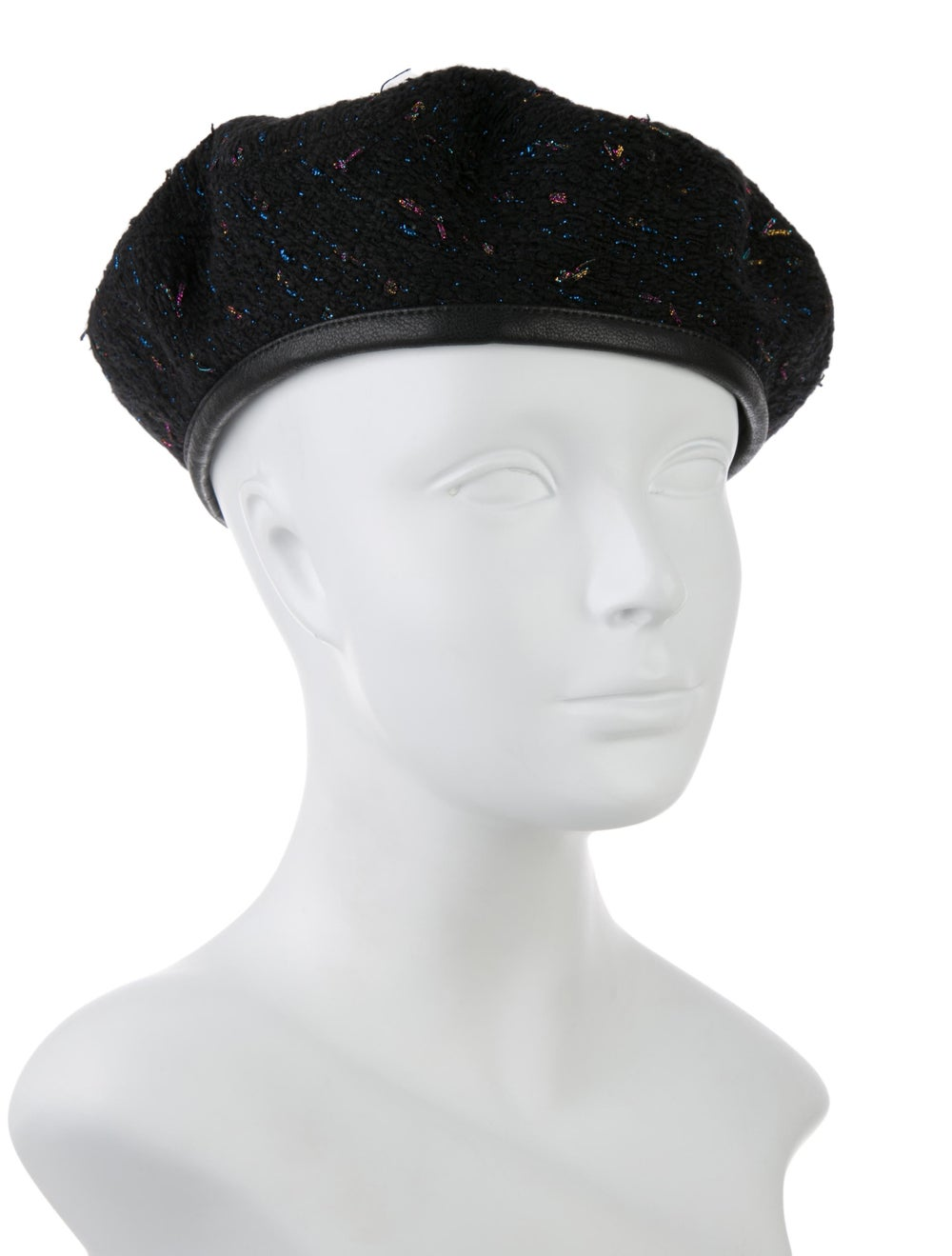 Eugenia Kim Cher Boucle Beret Hat w/ Tags Black - image 3