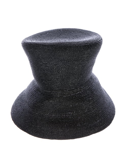 Eugenia Kim Straw Hat Black