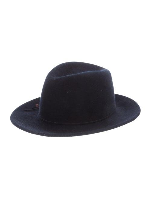 Eugenia Kim Wool Wide Brim Fedora Hat Navy
