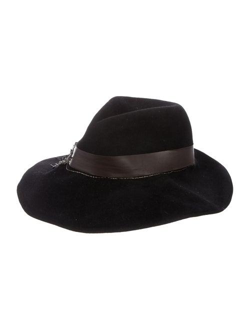 Eugenia Kim Rabbit Fur Fedora Hat Black