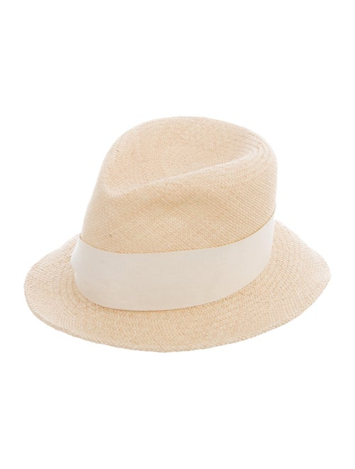 Eugenia Kim Straw Fedora Hat Tan