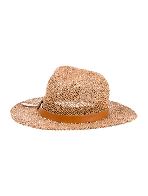 Eugenia Kim Straw Wide Brim Hat Tan