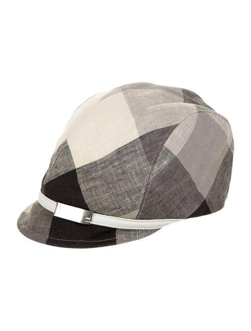 Eugenia Kim Linen Newsboy Hat black