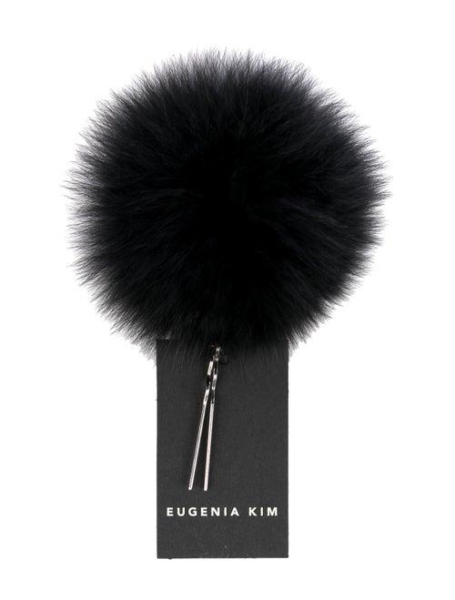 Eugenia Kim Anastasia Fur Pin Black