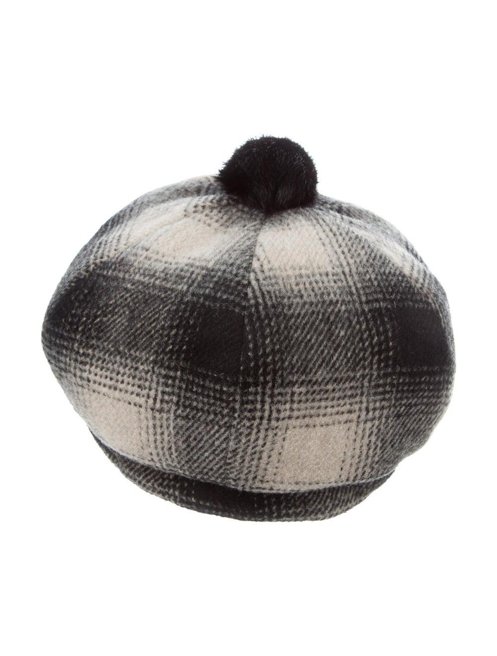 Eugenia Kim Plaid Wool Beret Black - image 1