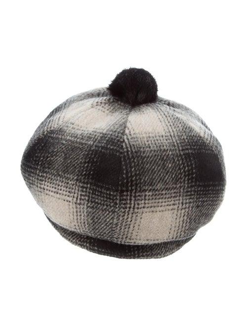 Eugenia Kim Plaid Wool Beret Black