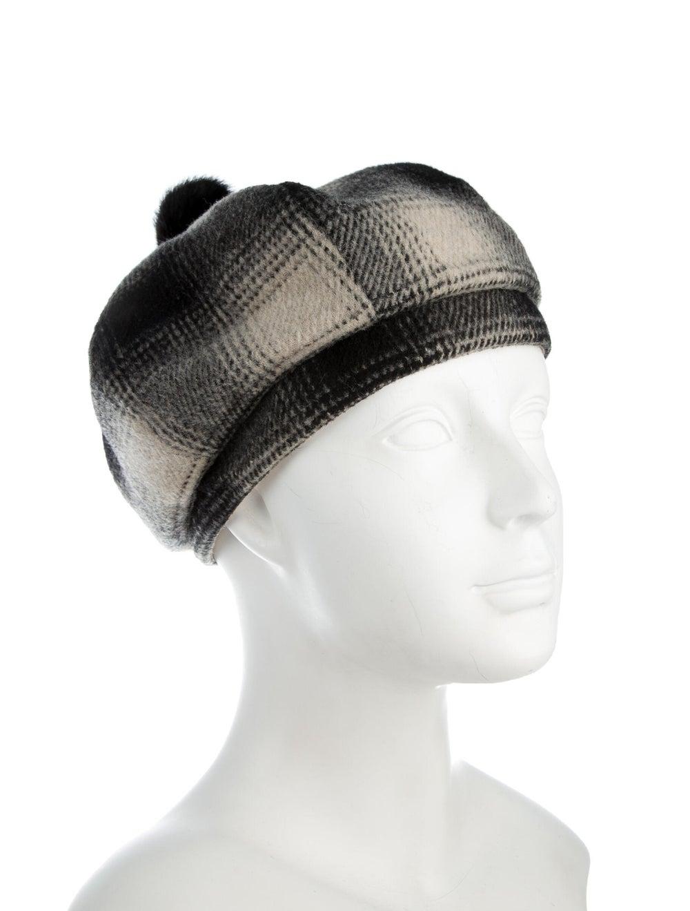 Eugenia Kim Plaid Wool Beret Black - image 3