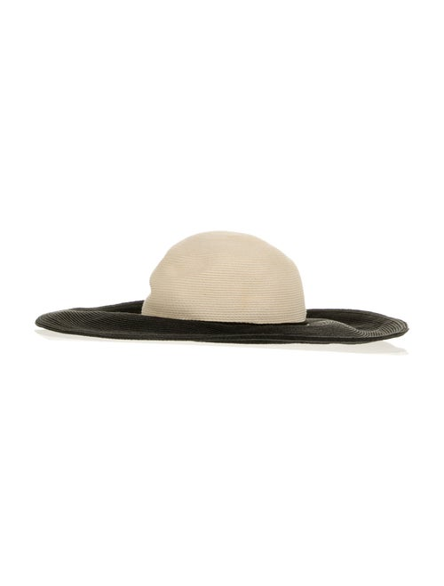 Eugenia Kim Straw Wide Brim Hat Black