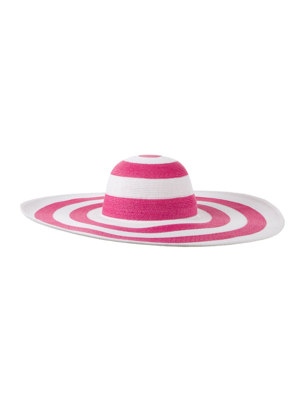 Eugenia Kim Straw Wide-Brim Hat Pink - image 1