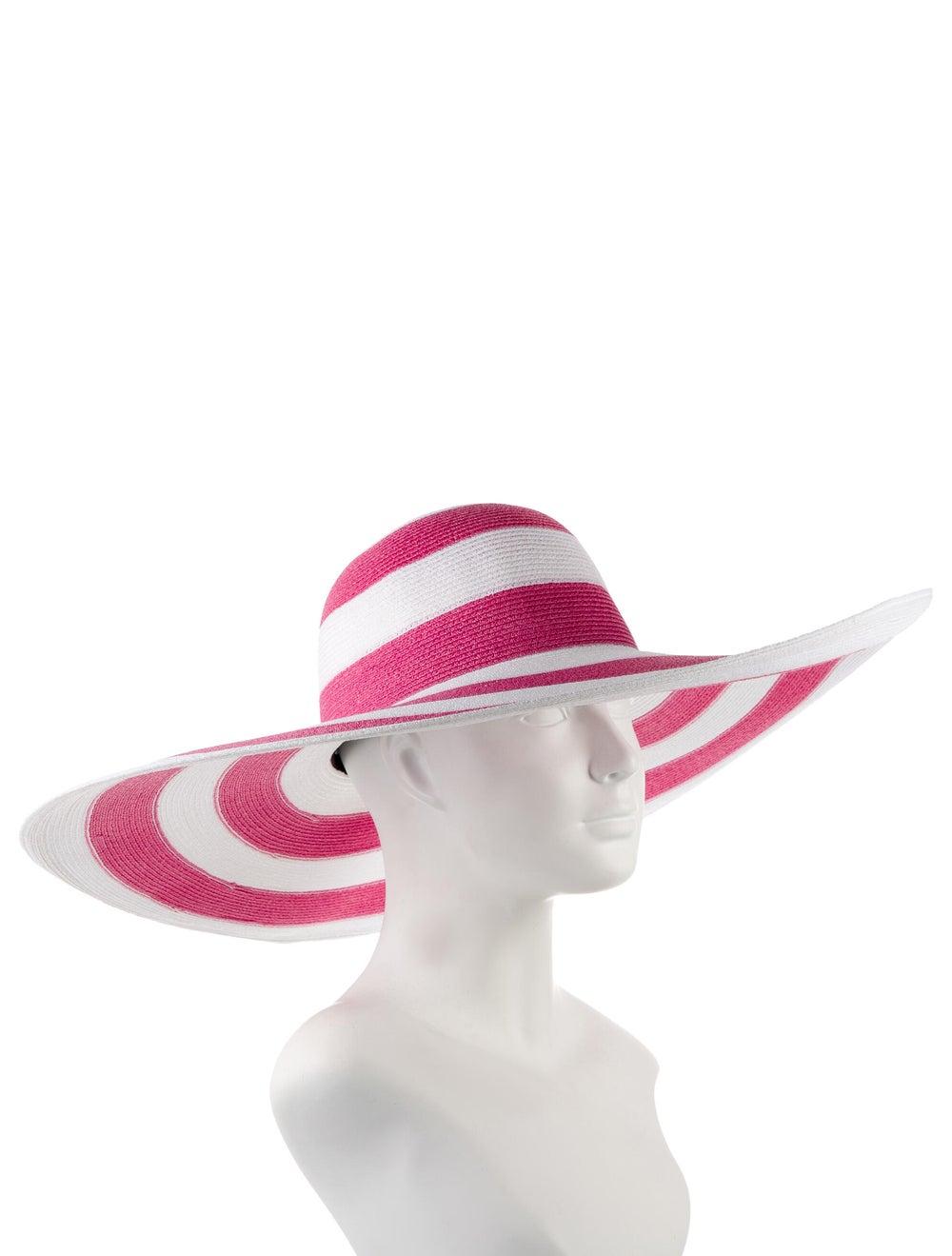 Eugenia Kim Straw Wide-Brim Hat Pink - image 3