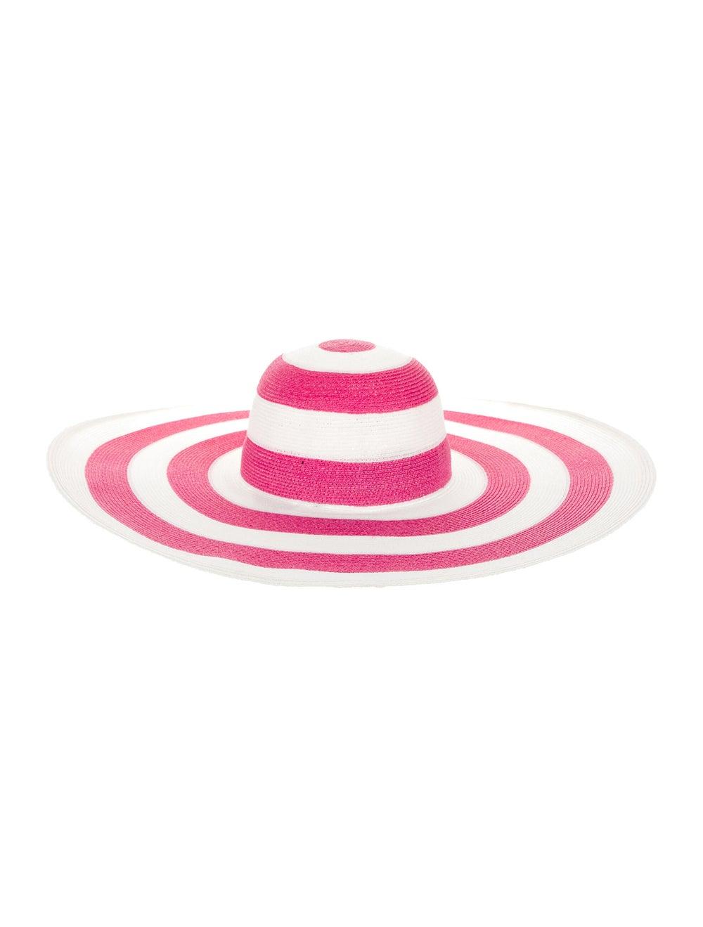 Eugenia Kim Straw Wide-Brim Hat Pink - image 2