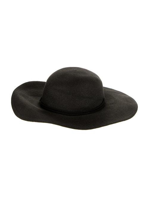 Eugenia Kim Wide Brim Straw Hat Black - image 1