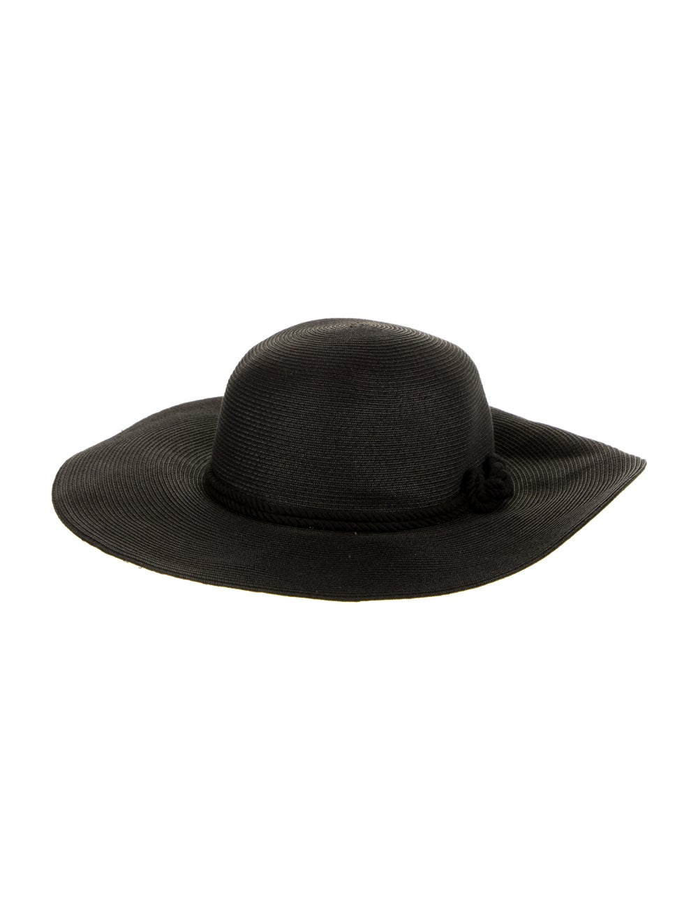 Eugenia Kim Wide Brim Straw Hat Black - image 2