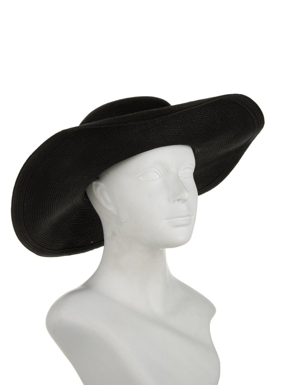 Eugenia Kim Wide Brim Straw Hat Black - image 3