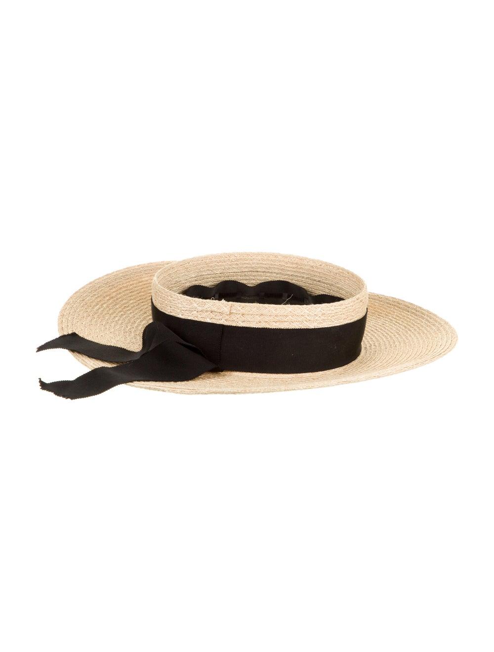 Eugenia Kim Straw Wide Brim Hat Tan - image 2