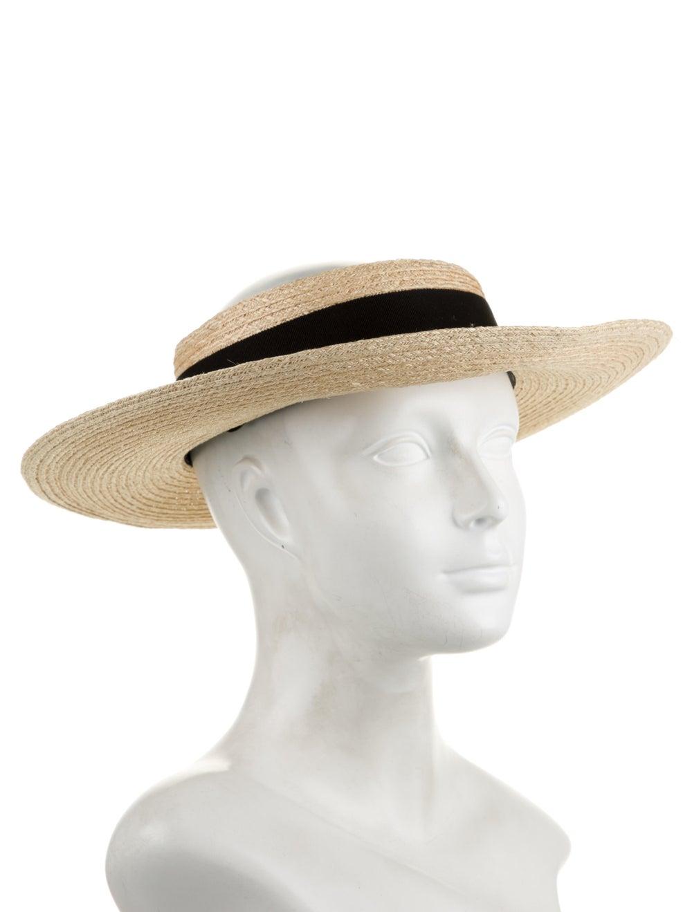 Eugenia Kim Straw Wide Brim Hat Tan - image 3