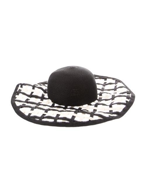Eugenia Kim Straw Wide Brim Sun Hat Black