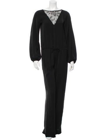 Alexis Klara Lace-Accented Jumpsuit w/ Tags None
