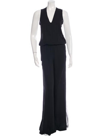Alexis Sleeveless Lace Jumpsuit None