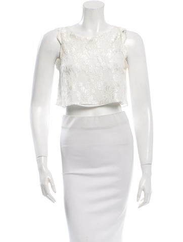 Alexis Lace Cropped Top
