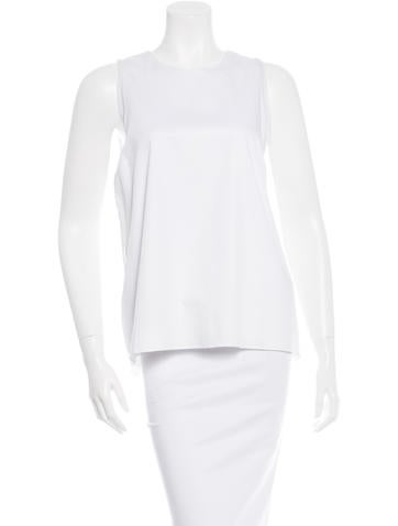 Alexis Sleeveless Pleated Top w/ Tags None