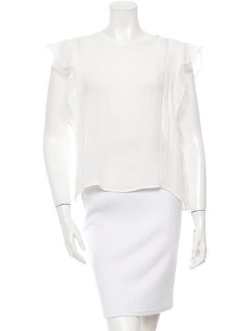 Alexis Silk-Trimmed Sleeveless Top w/ Tags None