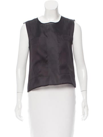 Alexis Sleeveless Silk Top w/ Tags None