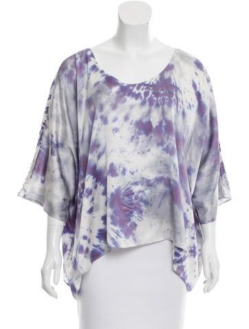 Alexis Tie-Dye Silk Top None