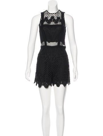 Alexis Crochet Sleeveless Romper w/ Tags None