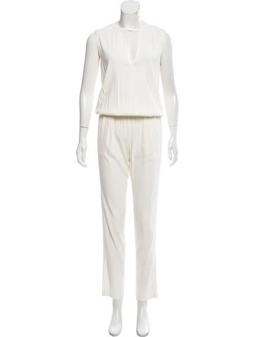 Alexis Sleeveless Straight-Leg Jumpsuit None