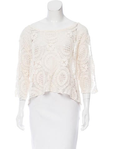 Alexis Cropped Knit Top None