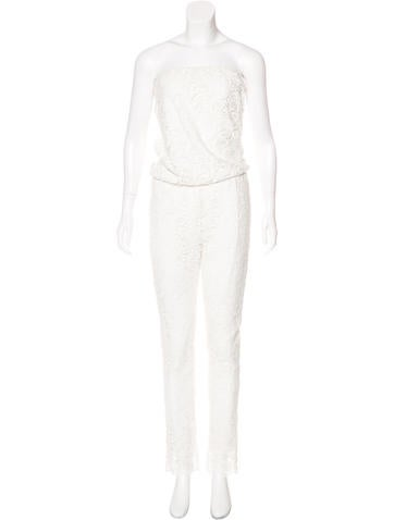 Alexis Lace Straight-Leg Jumpsuit None