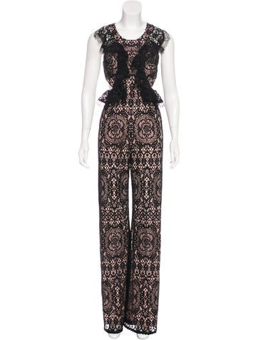 Alexis Lace Sleeveless Jumpsuit w/ Tags None