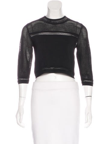 Alexis Knit Crop Top w/ Tags None